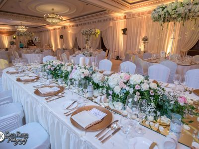 Pastel and Gold Floral Theme Decor