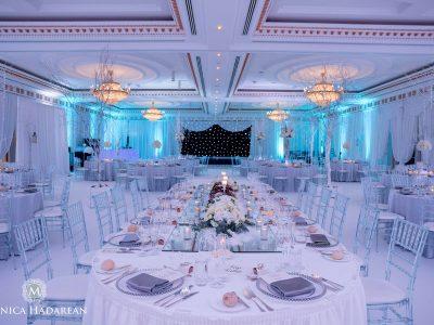 Winter Wonderland Theme for a Wedding Reception in Powerscourt