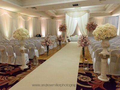 Ceremony Room Draping at Knightsbrook Hotel Spa and Golf Resort