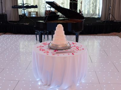 White LED Dance Floor Rental